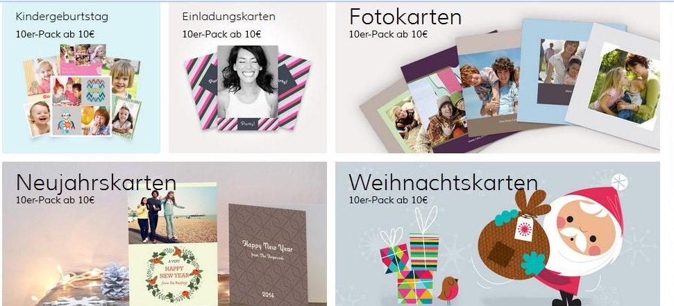 Fotogrußkarten von Photobox